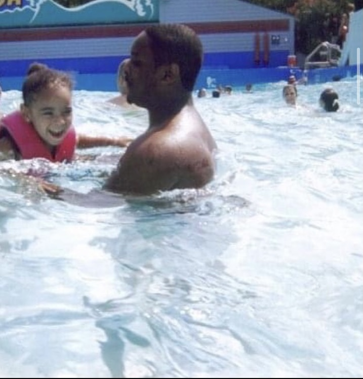 Tatyana and her father at a family vacation.