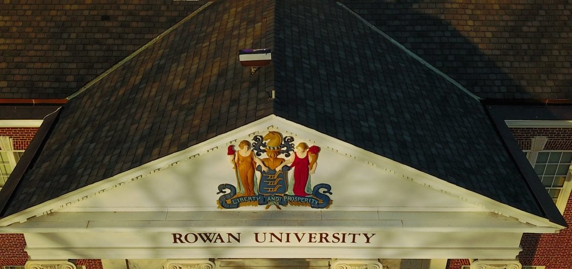 Close up of top of Bunce Hall.