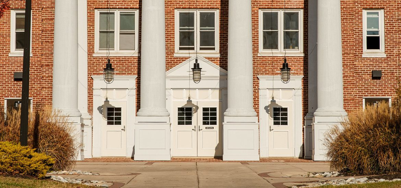 Exterior shot of Chestnut Hall Building