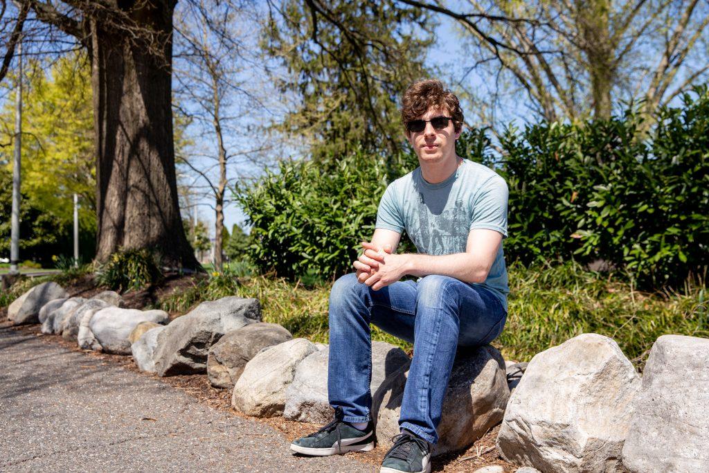 Kevin wearing sunglasses outside near Bunce Green.
