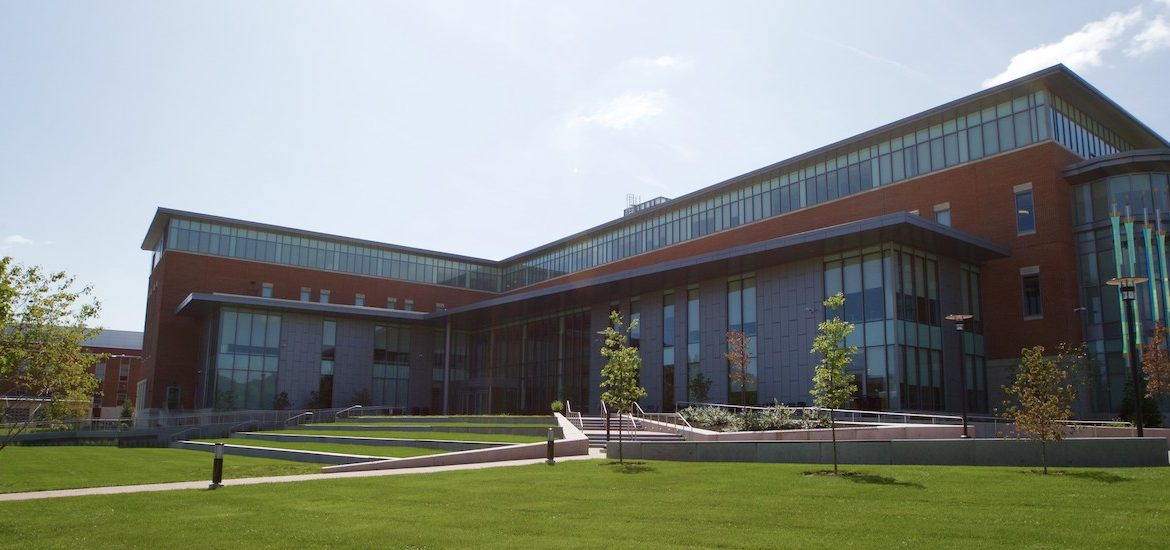 Business Hall shines under the sun.