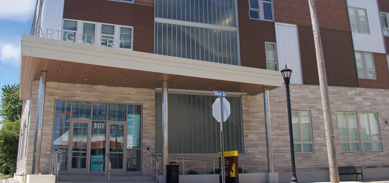Exterior shot of 301 High Street.
