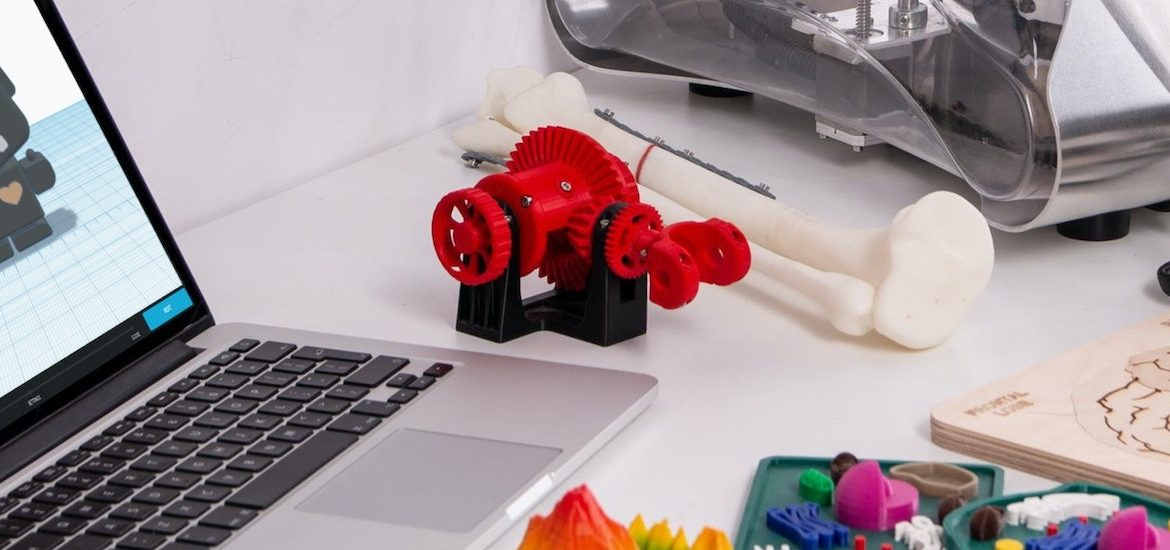Stock image of 3D printing supplies.