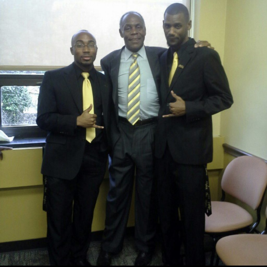 Michael with Joshua McGriff and Danny Glover.