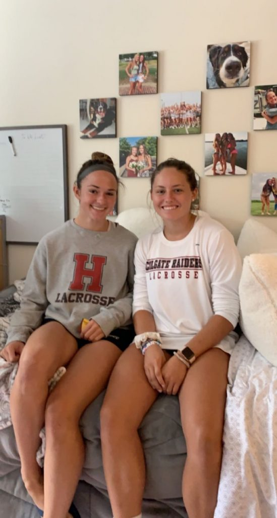 Natalie (left) and first-year roommate Jenna (right).