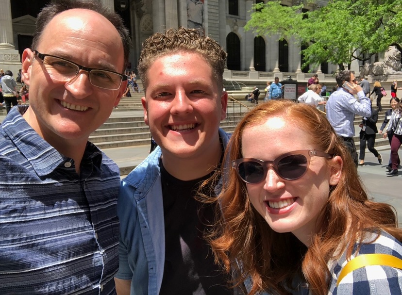 Nick Flagg with fellow coworker and professor while working on research project in New York City.