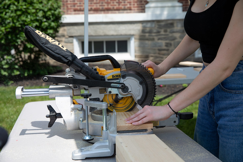 A picture of a power saw used in Stage Craft Fundamentals.