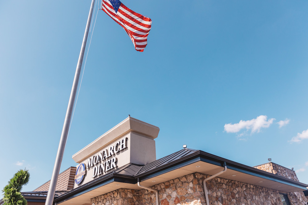 Exterior shot of Monarch Diner.