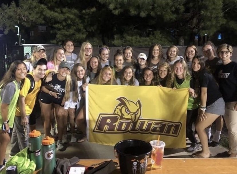 Our lacrosse team volunteering at the Mens soccer games.