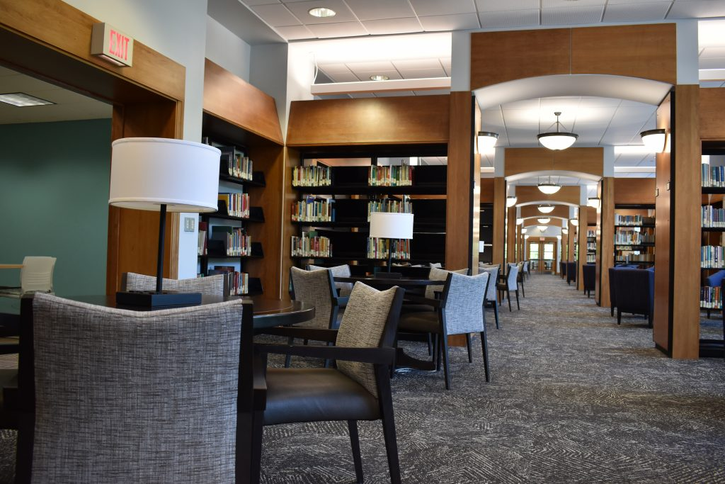 Study areas available in the Rowan Campbell Library.