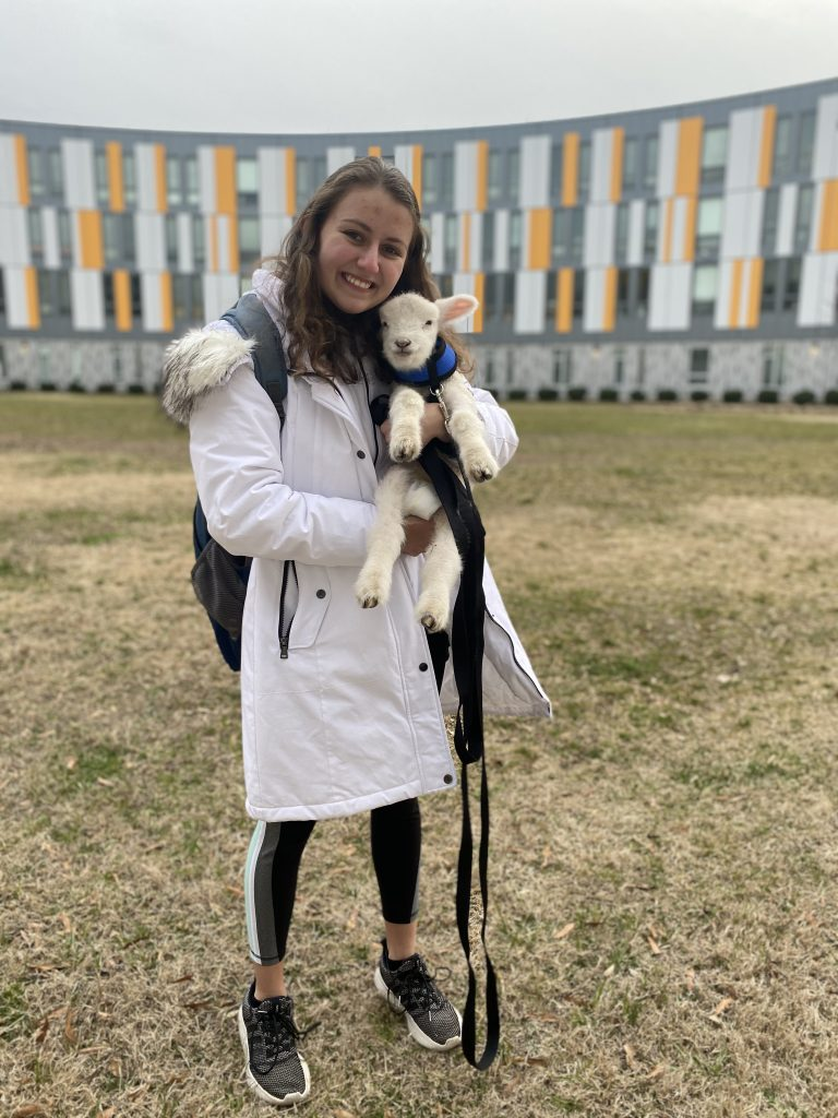 Alyssa holding goat