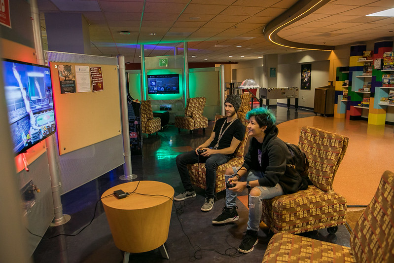 Samuel looks forward to hanging out in the game room like these guys are.