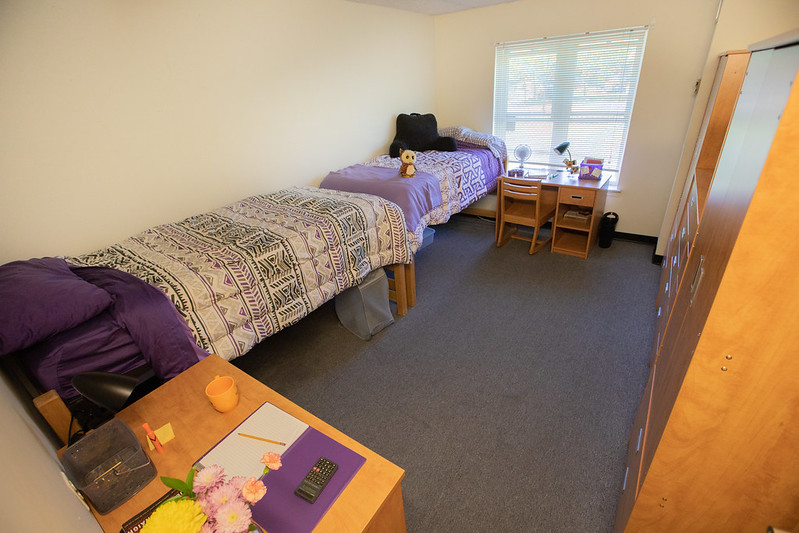 A double room in Magnolia Hall.