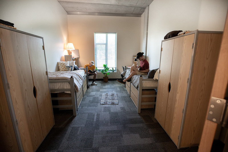 A double room in Holly Pointe.