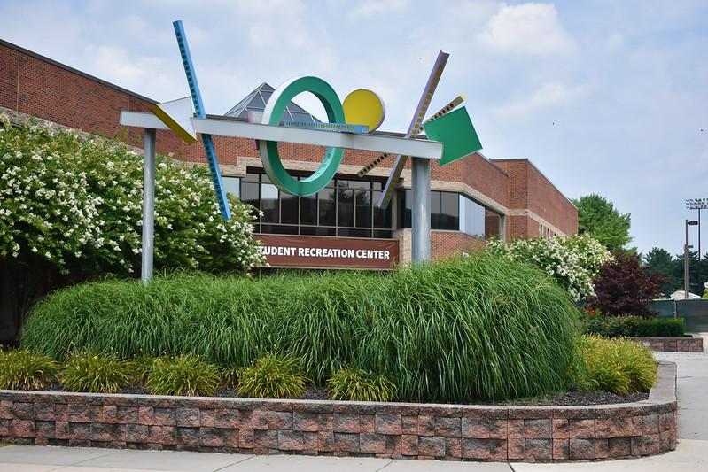 Exterior shot of campus Rec Center.