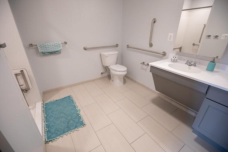 A bathroom in 57 North Main.