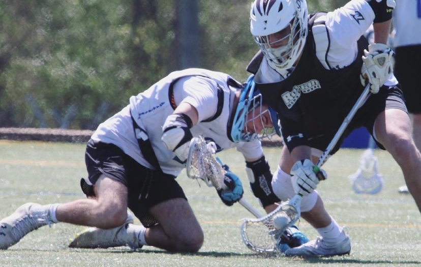 Face-off win by Dylan Ritchkoff during a scrimmage in Spring 2021.