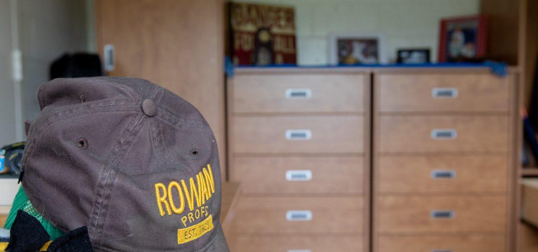 Interior closeup shot of Rowan residence hall.