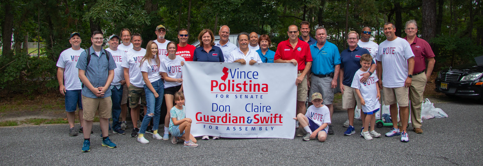 Stephen with candidates and volunteers from the campaign.