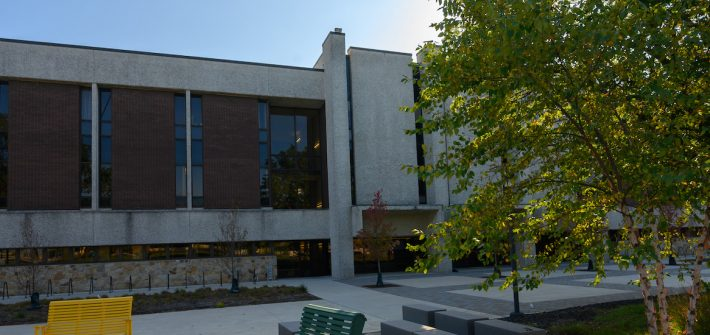 Exterior shot of Robinson Hall.